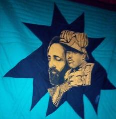 Haile Selassie flag at the Garvey museum