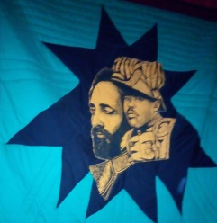 Haile Selassie flag at the Garvey museum