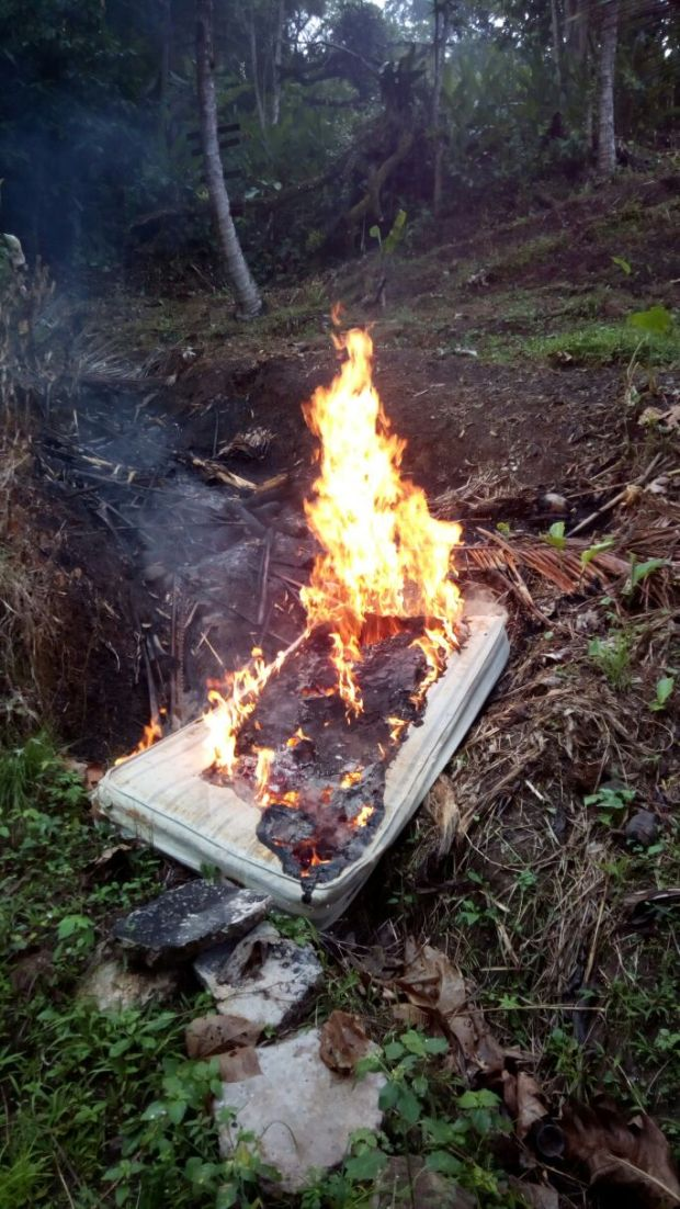 burning mattress
